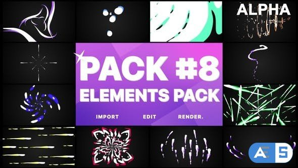 Videohive Flash FX Elements Pack 08 | Motion Graphics Pack 26745303