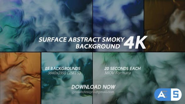 Videohive Surface Abstract Smoky Background 4K 26737808