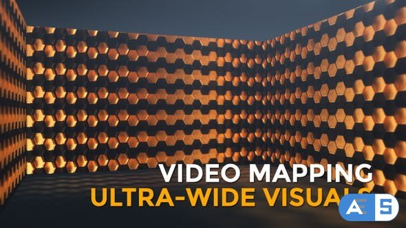 Videohive Black and Gold Hexagons Widescreen 25834545