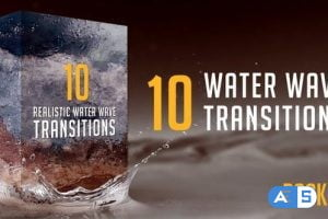 Videohive Water Wave Transitions Pack 3 23049288