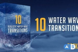 Videohive Water Wave Transitions Pack 4 23049428