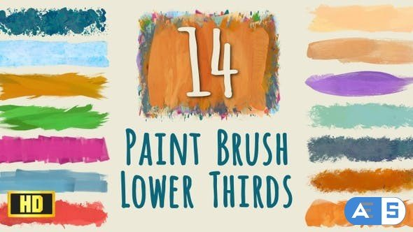 Videohive Paint Brush Strokes Lower Thirds – HD pack 22746044