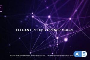 Videohive Elegant Plexus Opener Mogrt 22688168