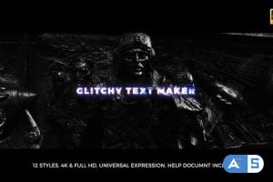 Videohive Glitchy Text Maker 20661876