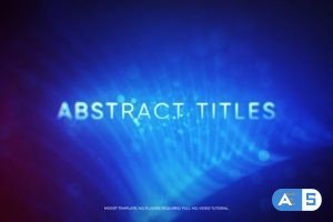 Videohive Abstract Titles Mogrt 22812919