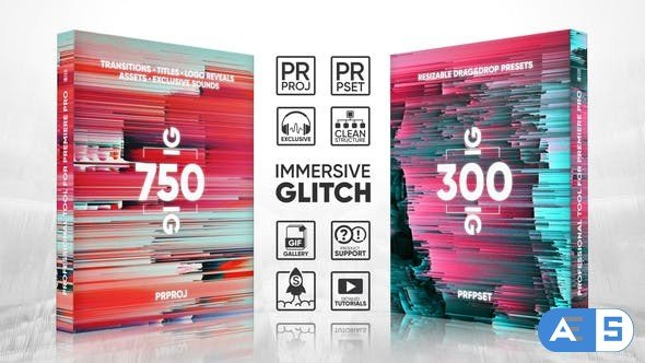 Videohive Glitch Package 1000+ Transitions, Titles, Logos Reveal, Presets, Assets, Sound FX 22228853