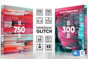 Videohive Glitch Transitions, Presets, Titles, Logos, Assets, Sound FX Pack 22228853