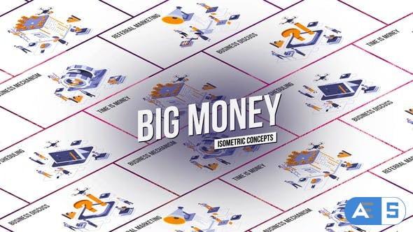 Videohive Big Money – Isometric Concept 27458539