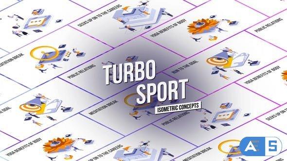 Videohive Turbo Sport – Isometric Concept 27458645