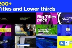 Videohive Titles and Lower thirds pack 200 26558069