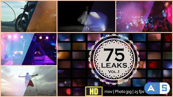 Videohive 75 Real Light Leaks and Bokeh 21446941