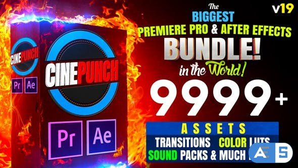 Videohive CINEPUNCH (BUNDLE) – Premiere Pro Transitions I Color LUTs I SFX – 18 PACKS – 9999+ Assets V19 20601772