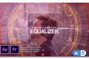 Videohive Equalizer Music Reactor Slideshow 27456589