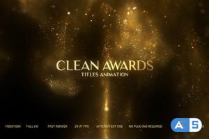 Videohive Golden Particles Award Titles 26992380