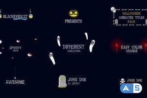 Videohive Halloween Titles Animation Pack 20826696
