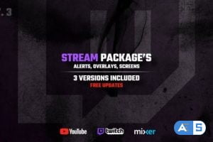 Videohive Stream Packages – Alerts, Overlays, Screens V3 25429330