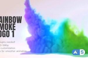 Videohive Rainbow Smoke Logo 26502019
