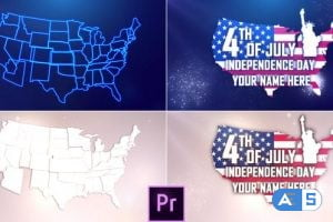 Videohive USA Independence Day Opener – Premiere Pro 27019943