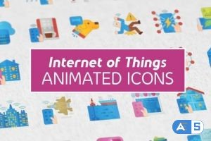 Videohive Internet of Things Modern Flat Animated Icons 26444338