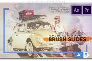 Videohive Paint Brush Slides Opener 27179045