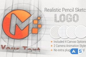 Videohive Pencil Sketch Logo 21345972