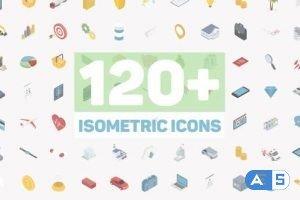 Videohive Isometric Icons 21410434