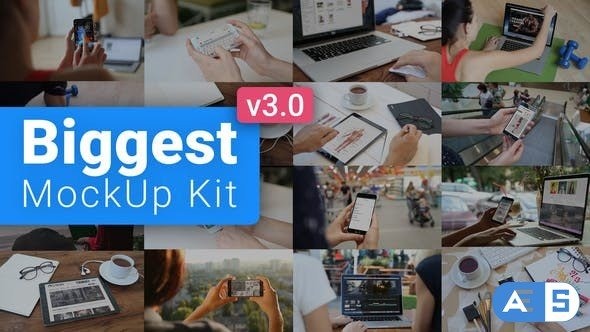 VIDEOHIVE BIGGEST MOCKUP KIT // DIGITAL DEVICE MOCKUPS V3 18599203
