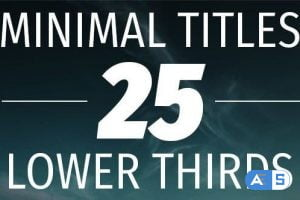 Videohive Minimal Titles and Lower Thirds 15176141