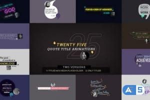 Videohive 25 Quote Titles 21466483