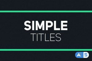 Videohive Simple Titles 19254004