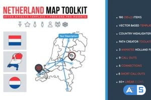 Videohive Netherland Map Toolkit 27491940