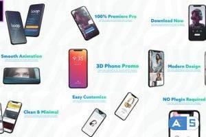 Videohive 3D Smartphone Presentation for Premiere Pro 26616056