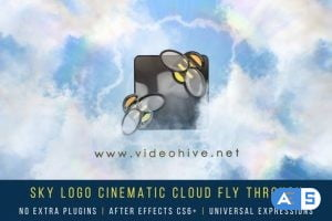 Videohive Sky Logo Cinematic Cloud Fly-Through 25712011