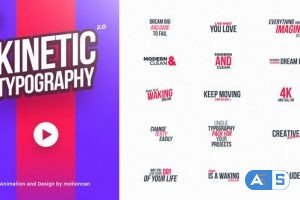 Videohive 40 Kinetic Titles 21633654