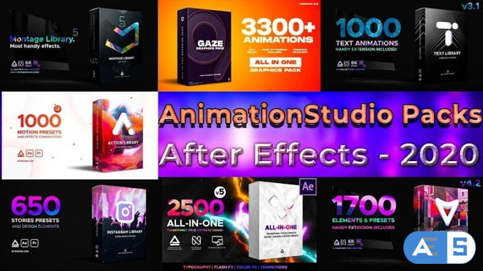 AnimationStudio All Packs For After Effects 2020