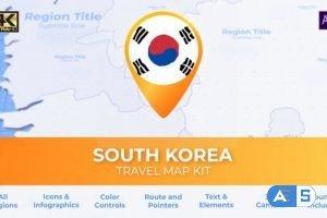 Videohive South Korea Map – Republic of Korea ROK Travel Map 27456571