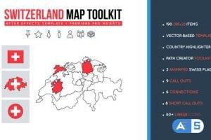 Videohive Switzerland Map Toolkit 27489635