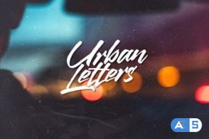 Videohive Urban Letters 22712429