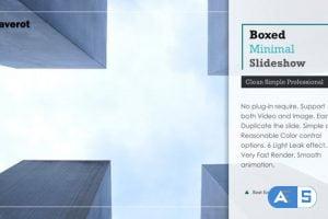 Videohive Boxed Minimal Slideshow 19299121