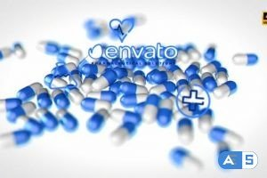 Videohive Medical Pills Background Projection 25564206