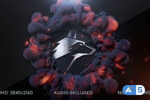 Videohive Firewave Logo Intro 26031864