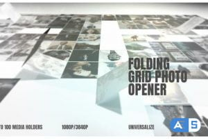 Videohive After Effects Folding Photo Grid Opener 25289061