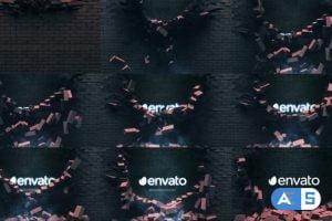 Videohive Falling Bricks Logo 26889732