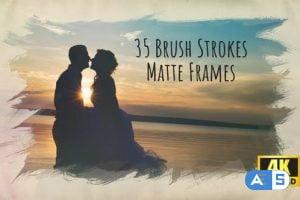 Videohive Brush Strokes – 35 4K Matte Frames 24131903