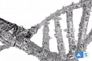 Videohive Futuristic Highly Detailed DNA Helix Strand Loop 24874332