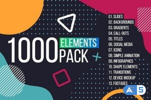 Motion Array 1000 Elements. Graphics Tool Pack 305432