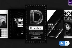 Videohive Instagram Monochrome Stories 27217933