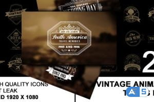 Videohive Vintage Animated Title Pack 6576282