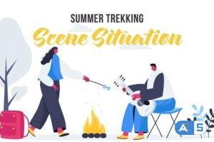 Videohive Summer trekking – Scene Situation 27642905