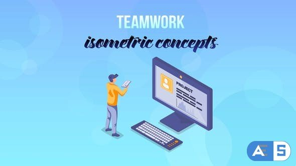 Videohive Teamwork – Isometric Concept 27529370